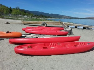 accommodations kayaks and beach toys