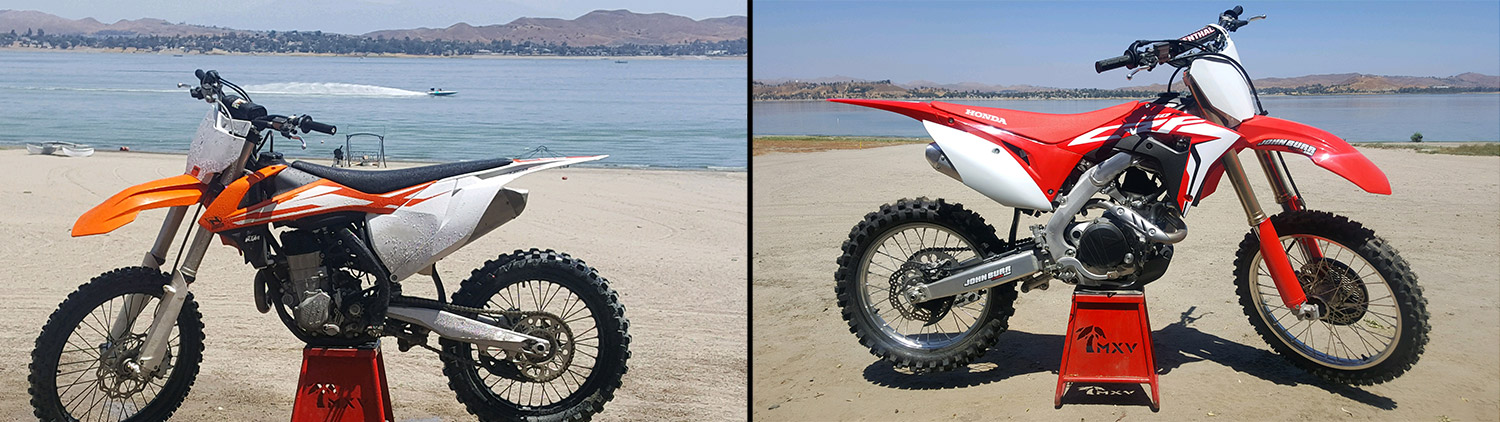 2017 and 2018 Honda and KTM Dirt Bike Motocross Rentals